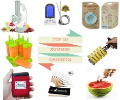 Gadgets are fun.  Some become a necessity in our home.  Here are some pretty fun summer gadgets.