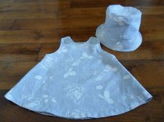 Patron robe trapèze pour poupée 36 cm
