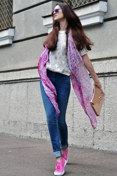 Touch Of Pink. by Tina Sizonova  I love the shawl!
