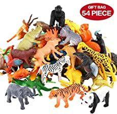 Animals figure 54 piece mini jungle animals toys set valefortoy realistic wild vinyl plastic animal learning party favors toys for boys girls kids toddlers forest small animals playset cupcake topper ten plagues napkins passover decorations 20 pack Jungle Animals, Farm Animals, Small Animals, Wild Animals, Toys For Boys, Kids Toys, Layers Of The Ocean, Animal Set, Animal Pics