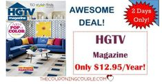 AWESOME! Love DIY? You will love this! HGTV Magazine for only $12.95/Year! That is a great price! Grab a subscription TODAY! Great gift idea, too!  Click the link below to get all of the details ► http://www.thecouponingcouple.com/rare-hgtv-magazine-only-14-99-for-2-years/ #Coupons #Couponing #CouponCommunity  Visit us at http://www.thecouponingcouple.com for more great posts!