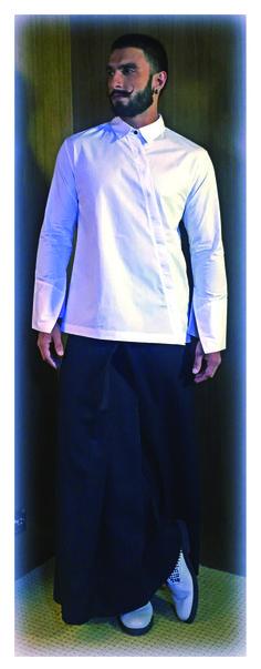 Ranveer Singh in payalkhandwala  Cotton Suranto Shirt and Palazzo