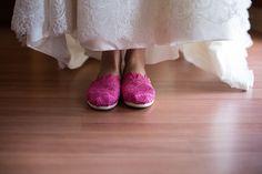 Bridal shoes pink TOMS inspiration