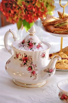 A Bite of Britain: This is my Teapot from my Lavender Rose China set.