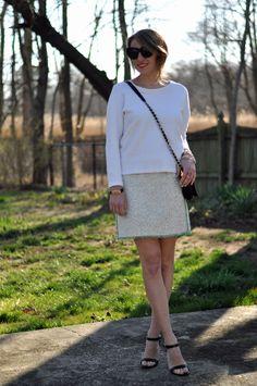 Little tweed skirt.