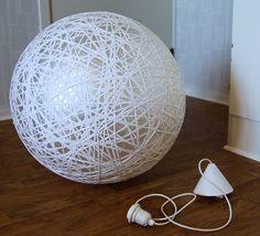 Luminária de Barbante - DIY                                                                                                                                                                                 Mais