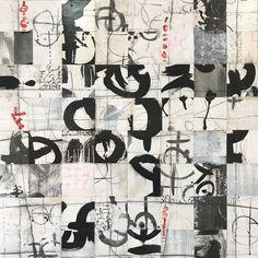 Laura Wait Hexagram X, 40 x 40. Paper and acrylic on Panel.
