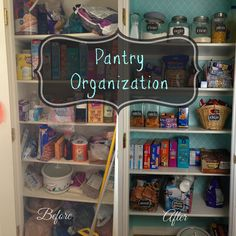 Pantry Organization. The before and afters are great!