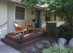 A remodeled Edina rambler's new front porch. Photo: Phil Rader #porch #patio #yard