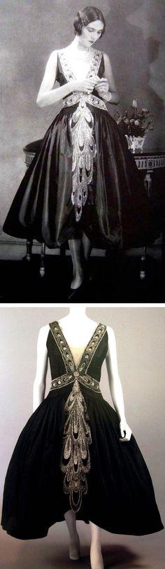 Lanvin robe de style, ca. 1926. Scanned from Lanvin by Dean Merceron via Fashion