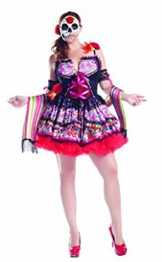 Women's Plus Size Halloween Costume Day Of The Dead