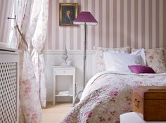 English Lilac Country Bedroom