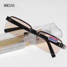 d6cff8d3bd3 Rimless classic style glass lenses Reading Glasses Plain mirror Men women  Unisex Eyewear 0 1.0 1.5
