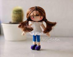fairyfinfin: Crochet Girl doll
