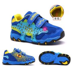 DINOSKULLS 3-10 Boys Autumn Shoes Dinosaur LED Glowing Sneakers Price: 54.99$ Shipping: Free Kids Sneakers, Casual Sneakers, Casual Shoes, Sneakers Nike, Fall Shoes, Winter Shoes, Sports Shoes, Boys Shoes, Kids Running