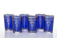 Henna Moroccan Tea Glass Set, Blue on OneKingsLane.com