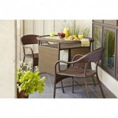 Hampton Bay Youngstown All-Weather Wicker 3-Piece Patio Bistro Set
