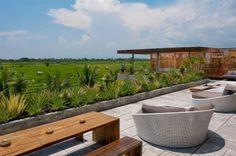 Rooftop Terrace at Villa Mana in Canggu, Bali