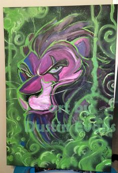 Scar from The Lion King acrylic painting by DustinEvans.deviantart.com on @deviantART