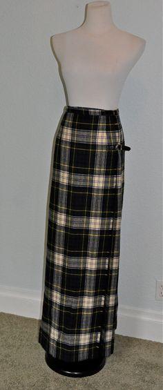 Long Vintage Scottish Kilt via Etsy Scottish Kilts de31c8c045820