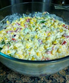 Corn dip_sour cream mayo pepers onion green chillies cheddar cheese an corn_yum!!