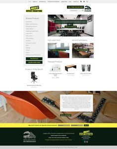Web Design by H Create! Mack's Office Furniture. Clean and effective!