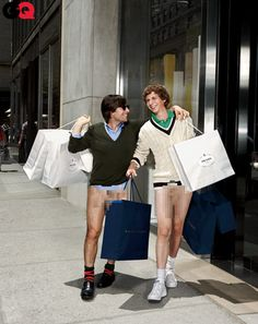 Jason Schwartzman and Michael Cera with no pants on
