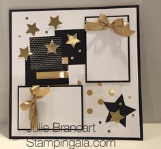 Black, gold and Whisper White rings in the new year for our January Scrapbook Club. I offer a scrapbook club the fourth Mon. Graduation Scrapbook, Birthday Scrapbook, Wedding Scrapbook, Baby Scrapbook, Scrapbook Cards, Christmas Scrapbook Pages, Scrapbook Storage, Halloween Scrapbook, Scrapbook Templates