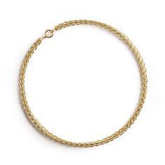 Gold bangle bracelet , wire crocheted bangle
