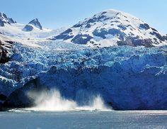 Alaska Glacier Ice Calving