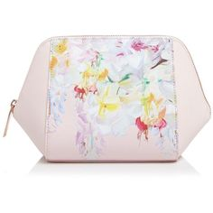 Ted Baker Hanging Gardens Extra Large Cosmetic Case (€57) ❤ liked on Polyvore featuring beauty products, beauty accessories, bags & cases, baby pink, purse makeup bag, make up purse, toiletry kits, ted baker and toiletry bag