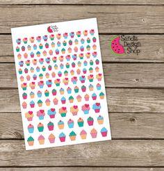 Cupcake life planner Stickers Planner por SandiaDesignShop en Etsy