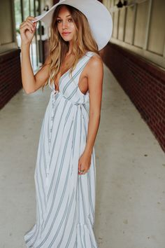Stripe Maxi dress  #swoonboutique