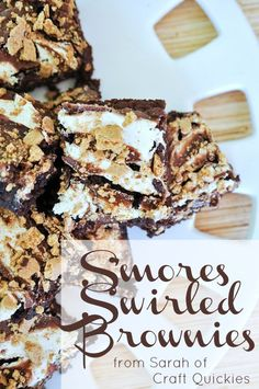S'mores Swirled Brownies!