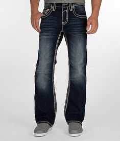 mens jeans buckle | Rock Revival Chopper Boot Jean