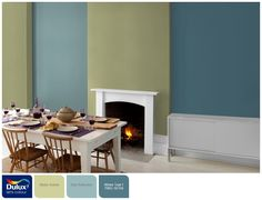 Colours that go with Melon Sorbet? Blue Reflection - Melon Sorbet - Winter Teal 1 Dulux