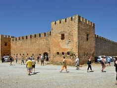 Frangokastello - Φραγκοκάστελλο Greek Castle, Greek History, Medieval Castle, Crete, Louvre, Tower, Street View, Building, Travel