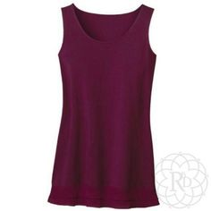 """Coldwater Creek Wine Chiffon Layer Tank Lovely Wine Chiffon Layer Tank Top.  ▪ CWC Size Medium = Size 10 - 12  ▪ Bust: 38"""" inches.  All measurements are approximate. Brand New with Tag. Never worn.   ✨ FINAL PRICE ~ NO OFFERS ✨    PRICE IS FIRM unless bundled    All Sales Final 