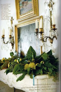 southern accent mantels | Picture of Elegance Blog: A Holiday Mantel....so my favorite.
