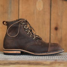 Smooth Waxy Mohawk in Snuff - Truman Boot Co. - American-made, White's - Viberg class footwear -TH