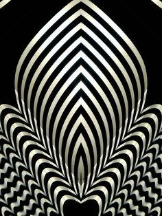 Op art flame by Marco Braun Black White Stripes, White Art, Black Art, Art Optical, Optical Illusions, Op Art, Fractal Art, Textures Patterns, Black And White Photography