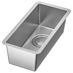 NORRSJÖN Single bowl dual mount sink, stainless steel - IKEA Single Bowl Sink, Double Bowl Sink, Ikea Canada, Ikea Kitchen Cabinets, Kitchen Island, Steel Seal, Kitchen Mixer Taps, Kitchen Sinks, Kitchen Remodel