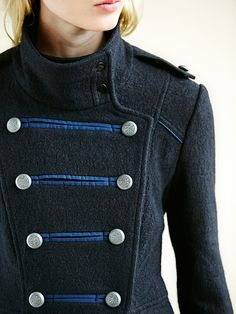 Detail :: Military style double-breasted wool coat