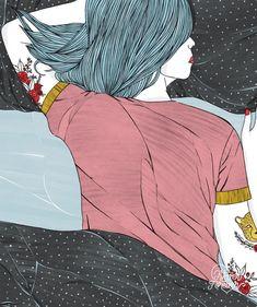 Never Forever love and heartbreak illustration