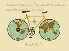 """Mark 16:15 ~ And then he told them, """"Go into all the world and preach the Good News to everyone."""" For kids area??"""