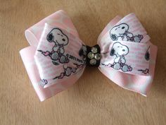 Snoopy Hair Bow by ang744 on Etsy, $5.00