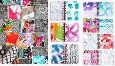alisaburke: a peek inside my art journal and a batch of handmade journals in the shop!