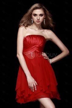 Cute A-line Empire Strapless Mini/Short Dasha's Homecoming/Prom Dress