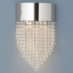 Crystal Waterfall Sconce