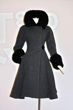 "Perpetually filed under the ""if money were no option"" heading. #coat #luxury #vintage #winter #clothing #designer #grey #black #fashion"